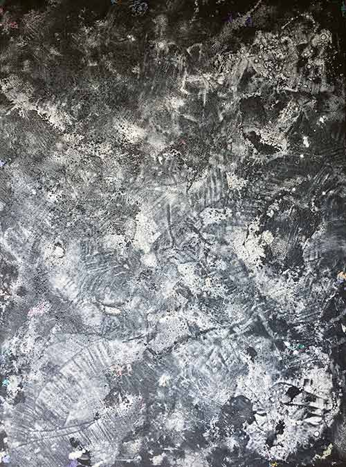 Abstratk maleri i sort-hvide farver